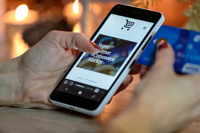nakupování online přes mobil